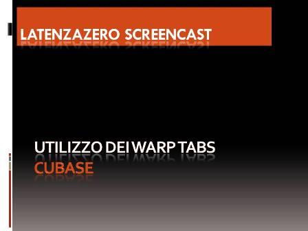 Cubase – Corretto utilizzo dei warp tabs