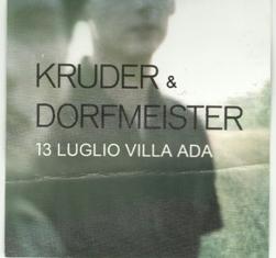 13 luglio 2010: KRUDER & DORFMEISTER live a Roma