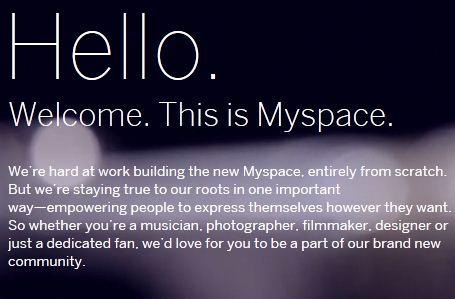 Myspace ritorna in una nuova veste